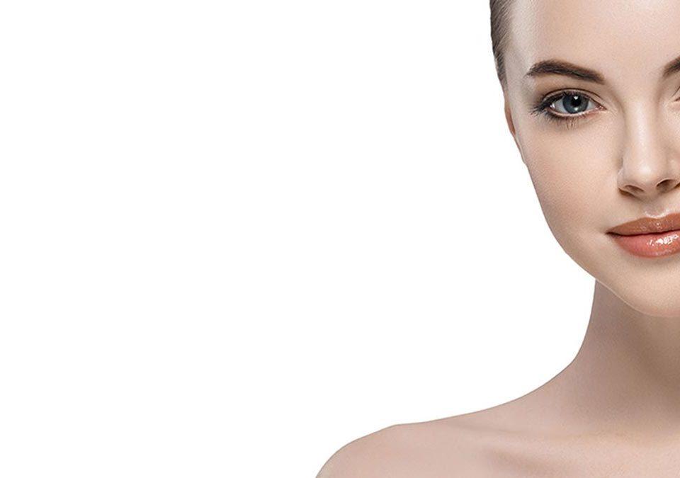 Cara femenina tratada con botox