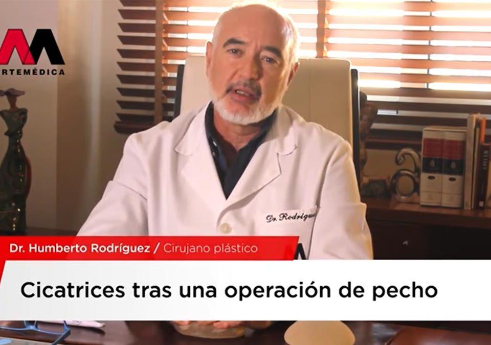 Vídeo de entrevista sobre cicatrices en operaciones de pecho al Doctor Humberto Rodríguez