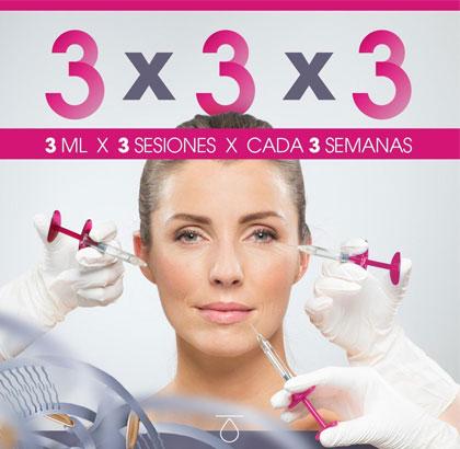 Tratamiento en cara, cuello y escote de redensificación de la piel